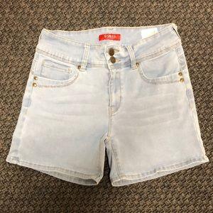 EUC Guess High-Rise Denim Shorts Size 26